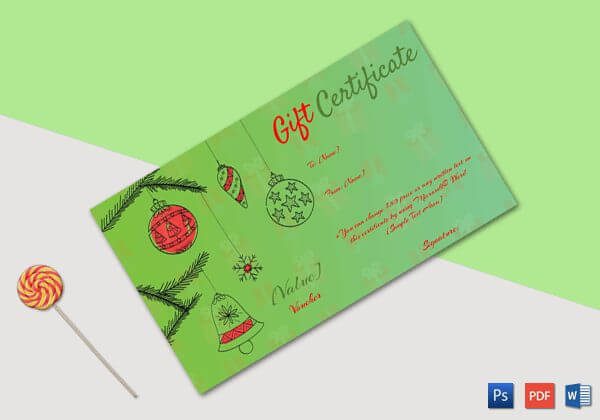 Christmas Gift Certificate (Ornamental Christmas ball decoration)
