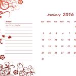 2016 Calendar Template for Microsoft® Word