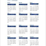 2017 Calendar Template for Word