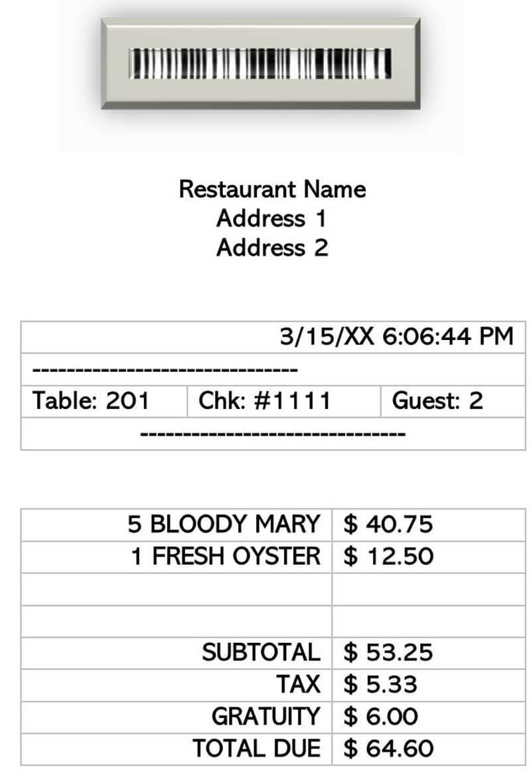 8 Best Restaurant Receipt Templates Formats Word Pdf
