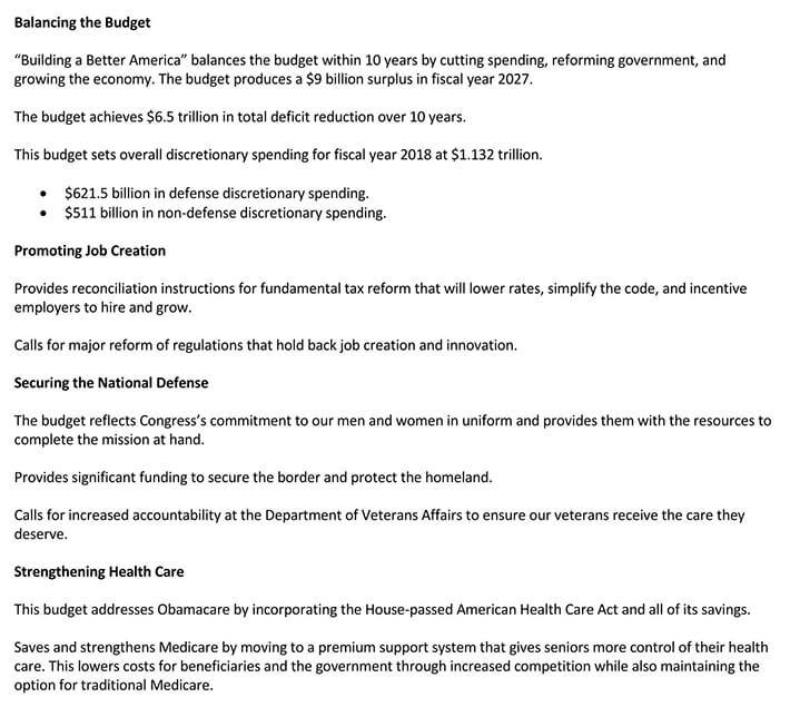 budget report sample pdf