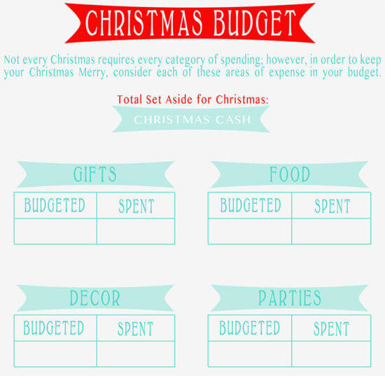 christmas budget calculator 1
