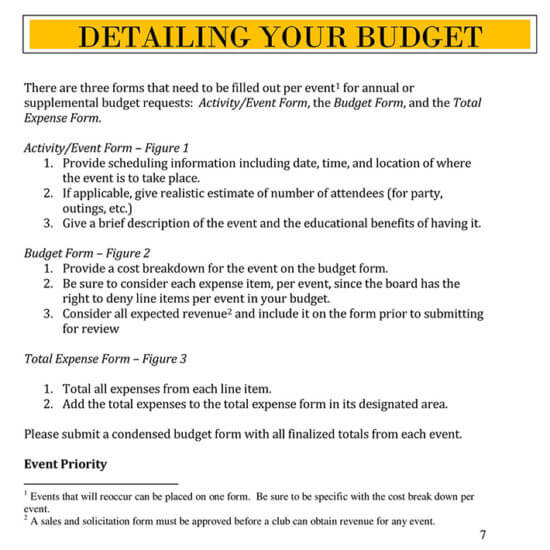 expense budget template 1