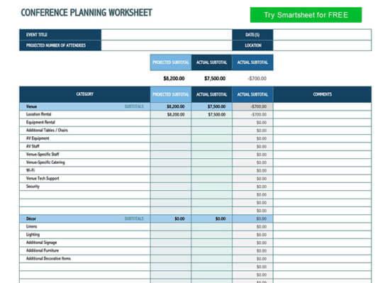 event budget template google sheets