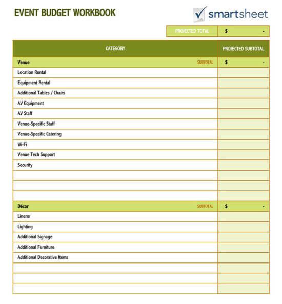 event budget checklist