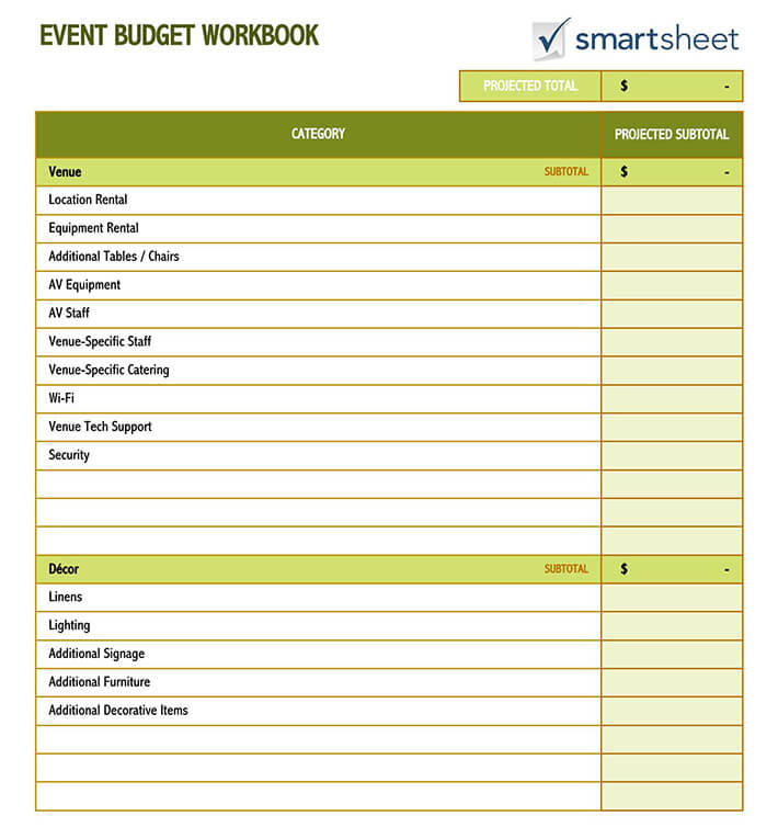 Create A New Workbook Based On The Event Budget Template from www.wordtemplatesonline.net