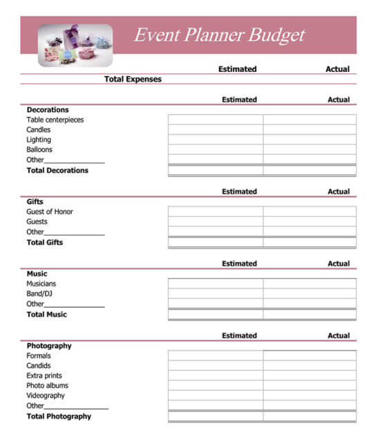 event budget template google sheets 1