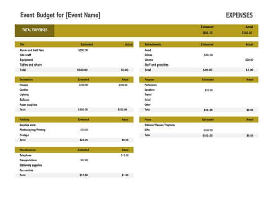event budget checklist 1