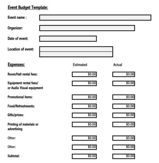 conference budget template 1