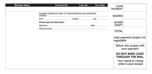 Example Loan Payment Receipt