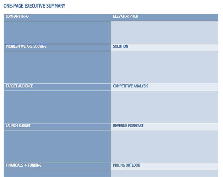 example of executive summary for assignment