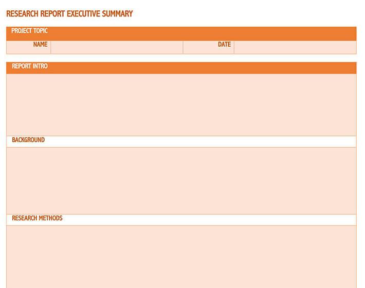 executive summary template pdf 1