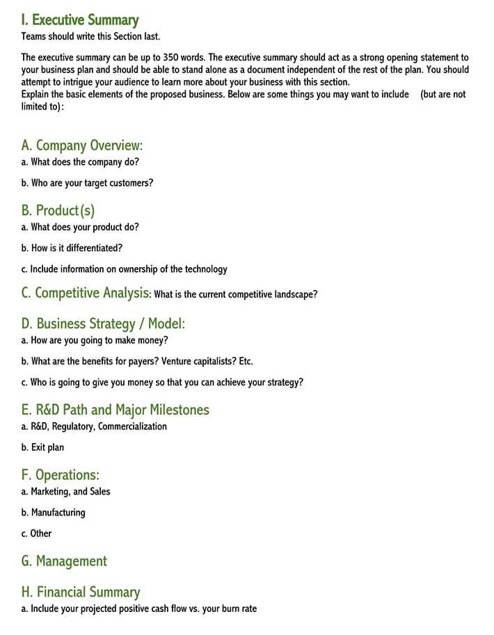 healthcare executive summary template 1