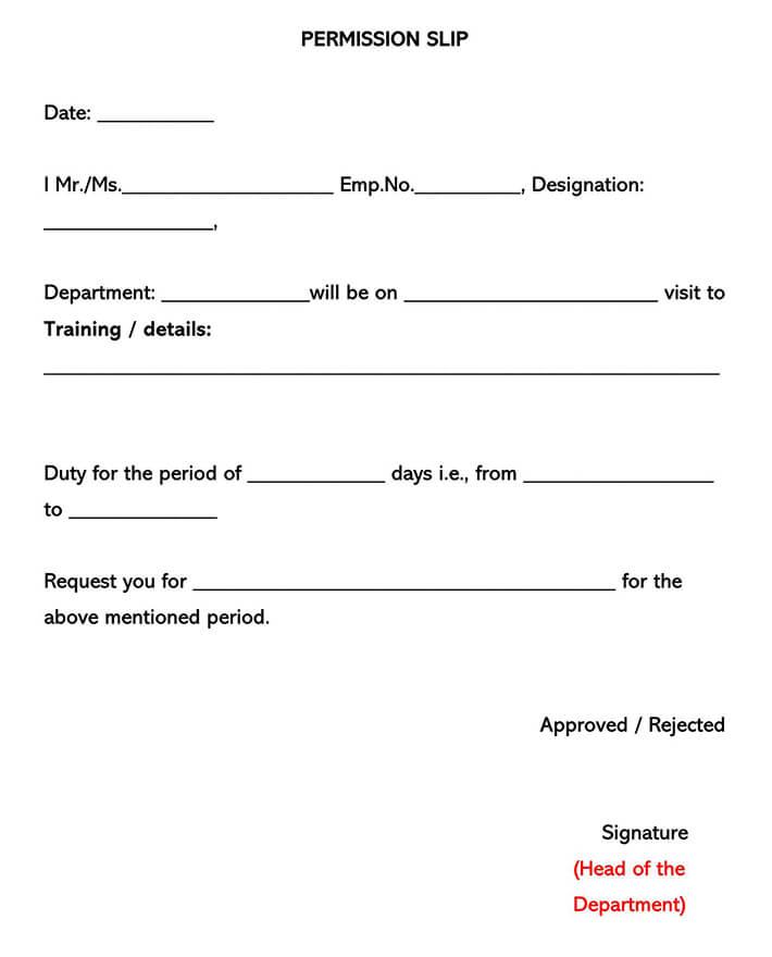 Field Trip Consent Form 07
