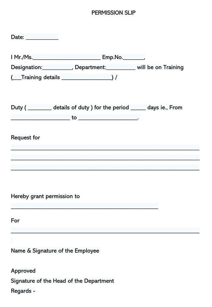 Field Trip Consent Form 09