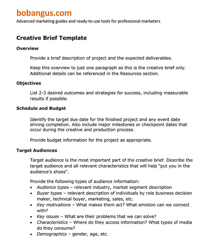email marketing brief template 1