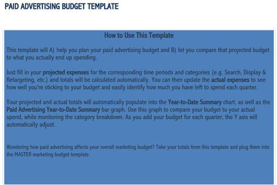 marketing budget template google sheets 2