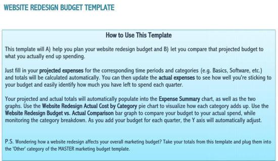 marketing budget sample pdf 2