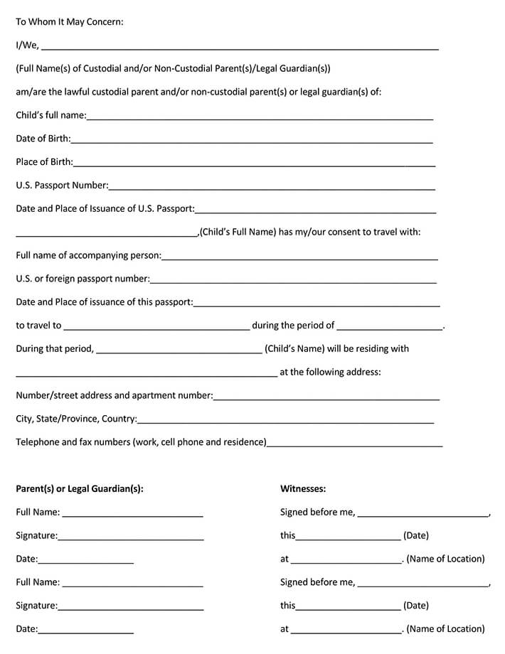 Parental Consent Permission Letter Template from www.wordtemplatesonline.net
