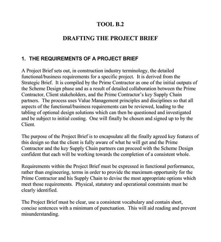 design project brief template