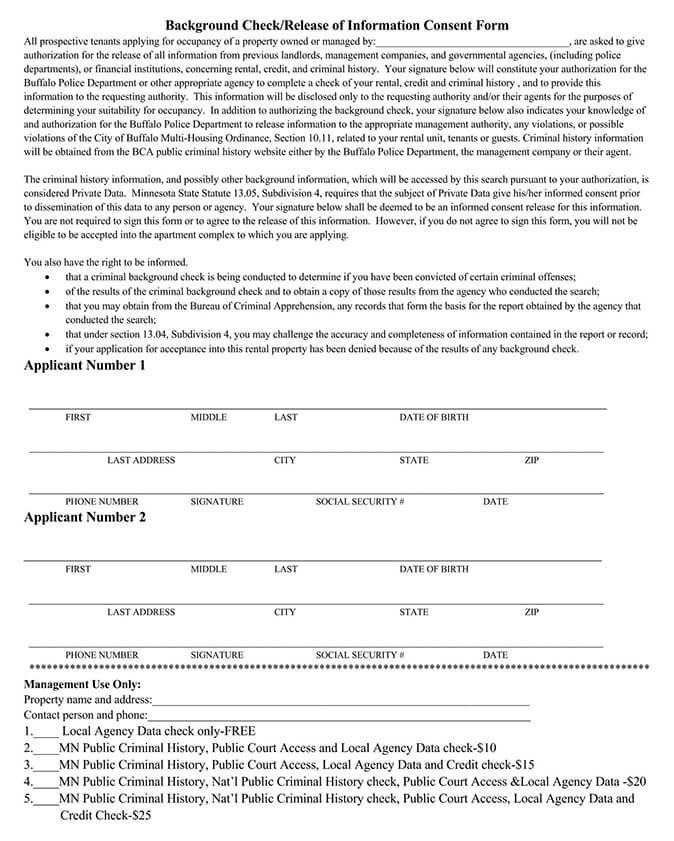Release of Information Consent Form