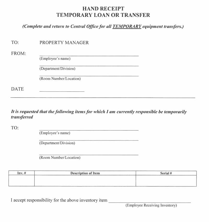 12 Free Loan Receipt Templates Examples Word Pdf