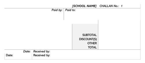School Fee Payment Receipt Template 02