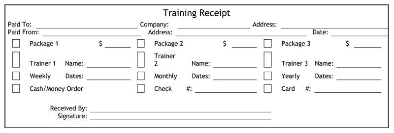 8+ Free Personal Training Receipt (Bill) Templates (Word ...