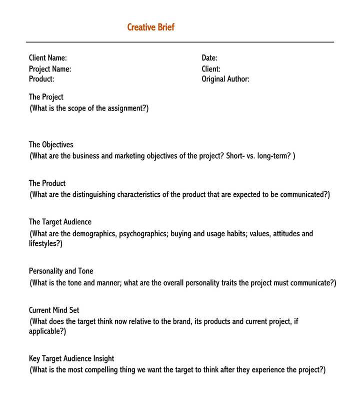 creative brief template ogilvy 1