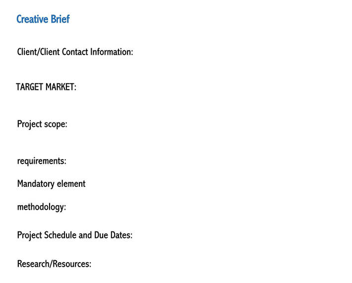 creative brief template word doc
