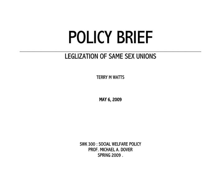 editable policy brief template