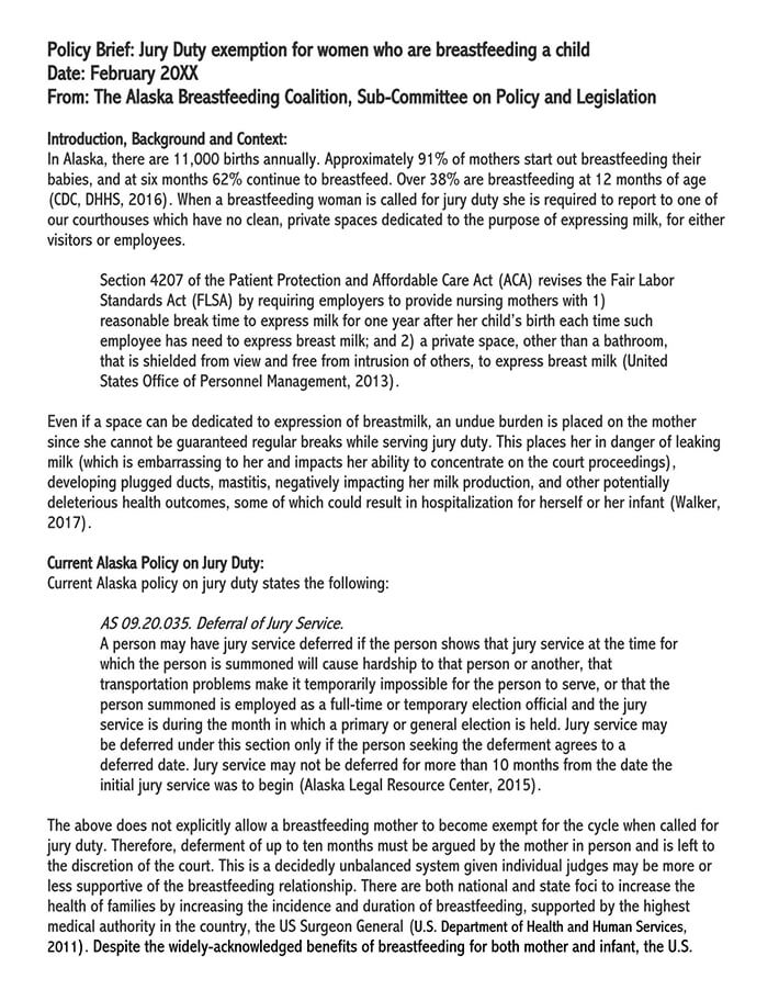 one page policy brief template 2
