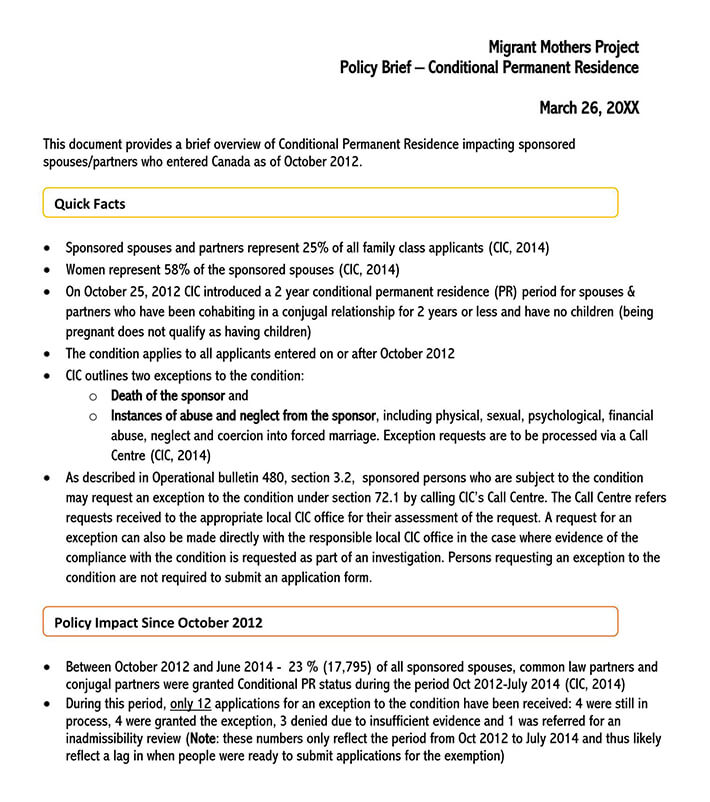 policy brief design template free 2