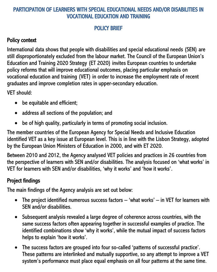 policy brief template word free 1