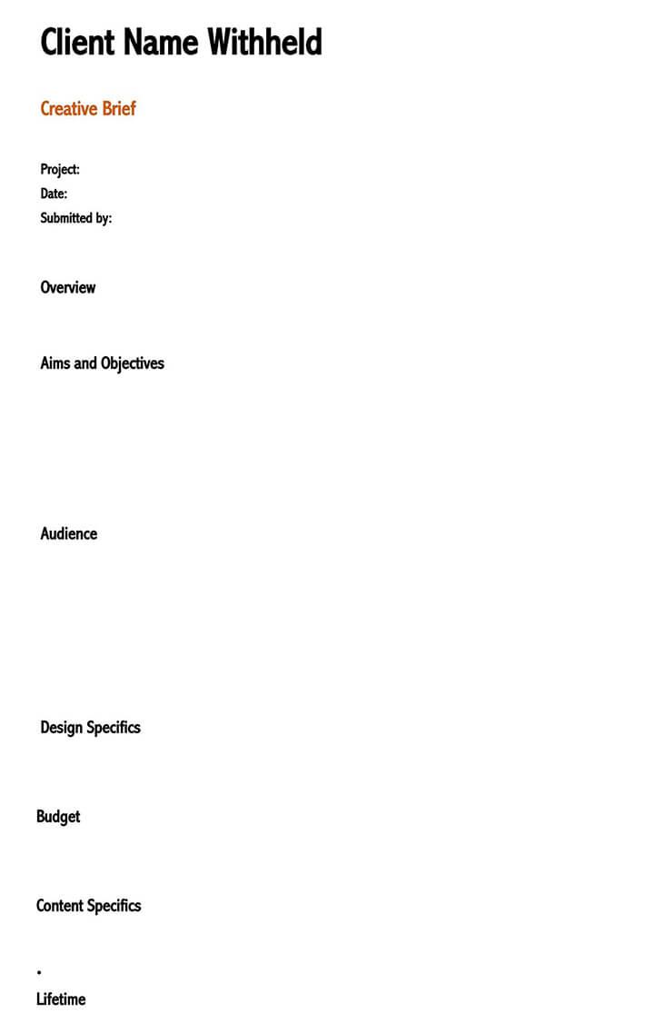 social media creative brief template 1