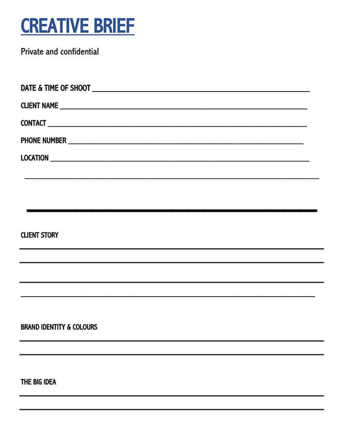 social media creative brief template