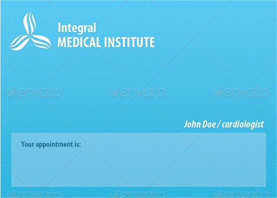 Appointment Medical Card Sample