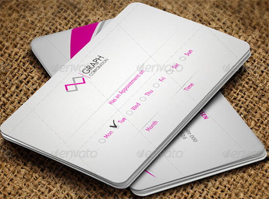 Closeup Appointment Card Template