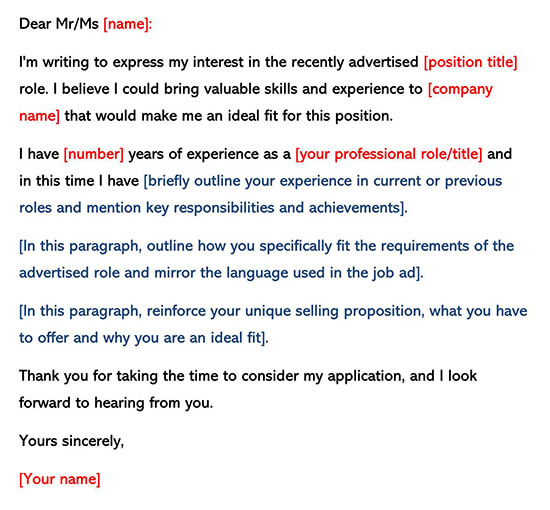 Cover Letter Template Response 02