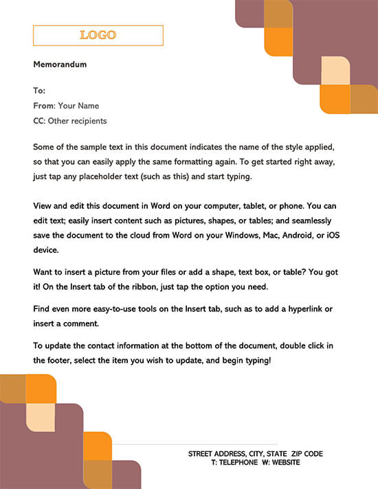Example Memorandum Template