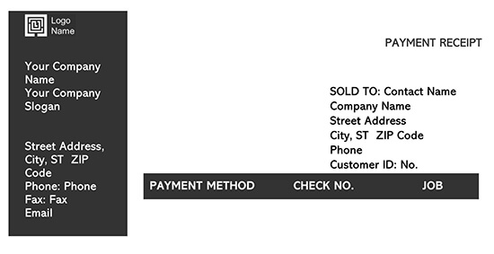 Example Payment Receipt Template