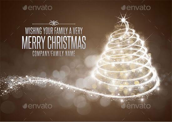 Family Christmas Holiday Invitation Card