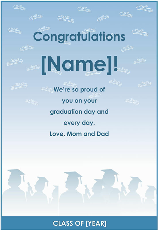 Graduate Congratulation Word Template