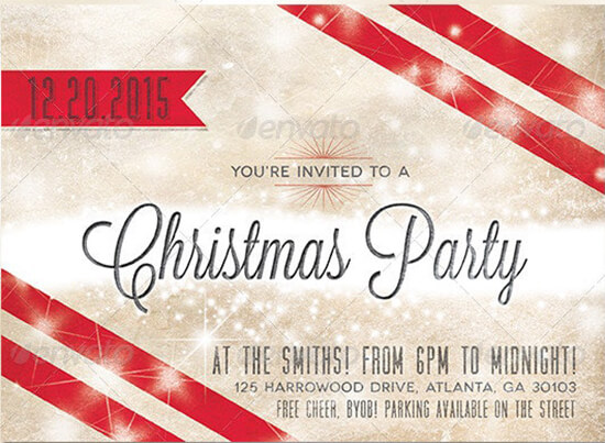 Holiday Invitation Card Template