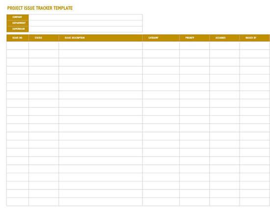 Issue Tracker Template from www.wordtemplatesonline.net