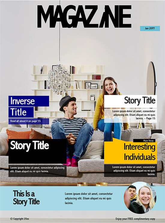 magazine template word download