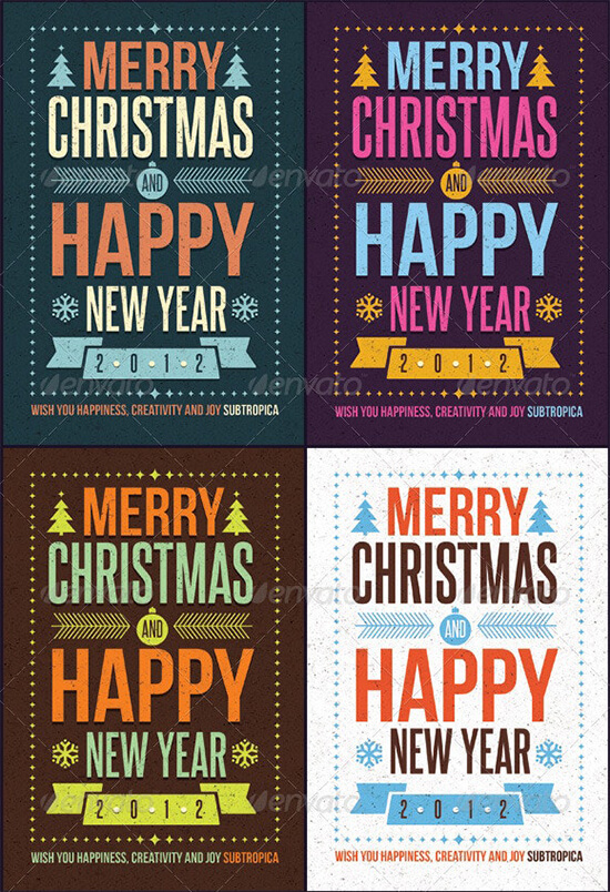 New Year Holiday Card Template