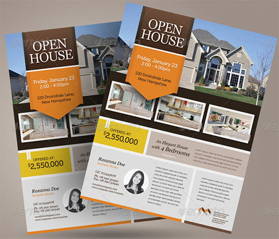 Real Estate Open House for Sale Flyer Template