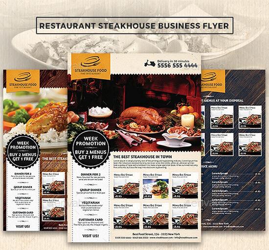 Restaurant Steakhouse Flyer Template