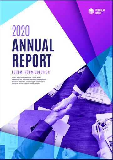 Sample Annual Report Flyer Template